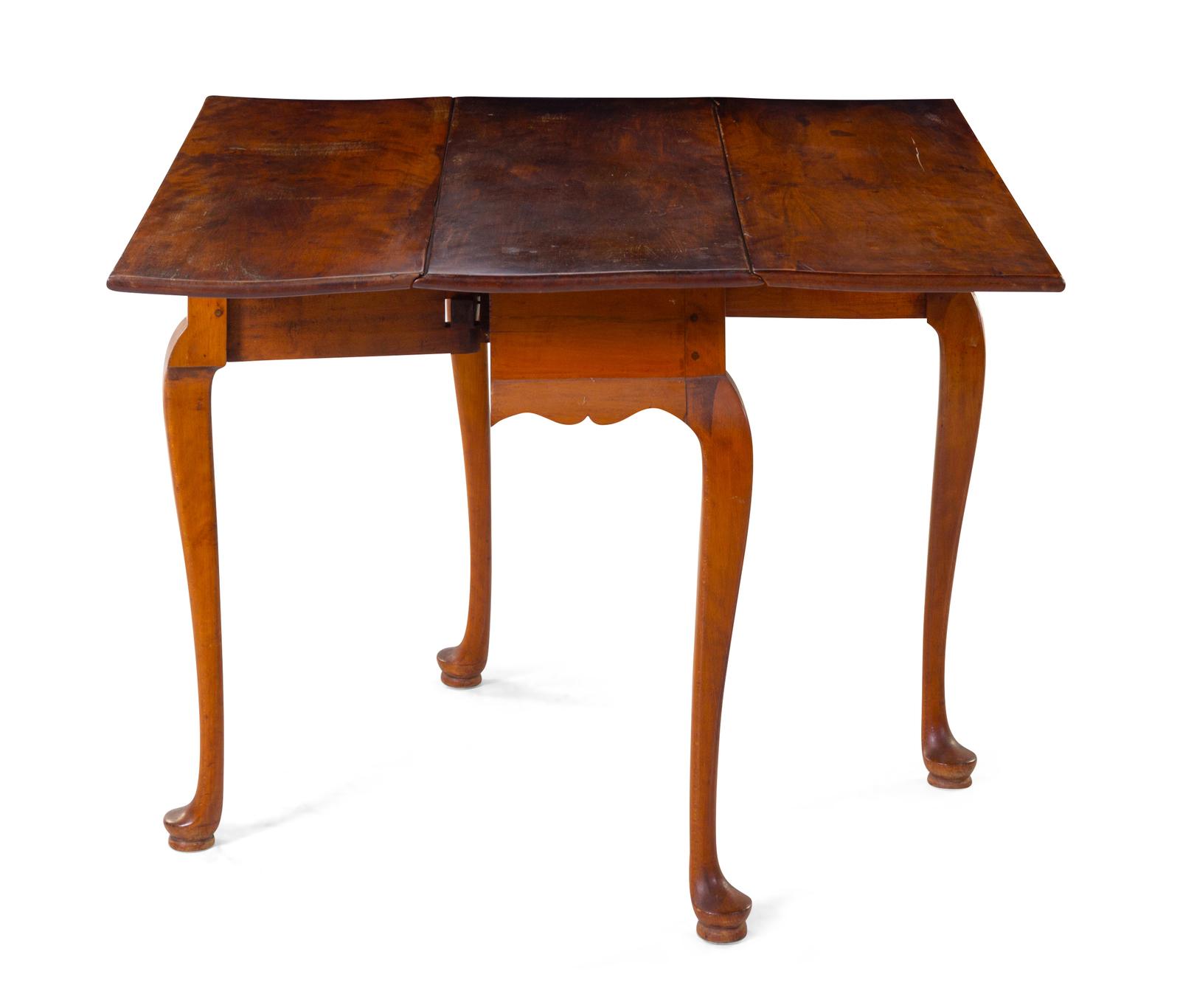 A Queen Anne Cherry Drop-Leaf Table